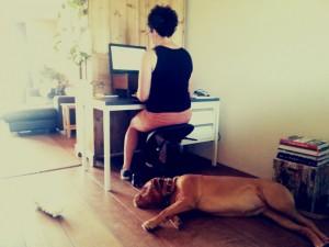 thuis met hond